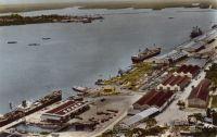 Douala, vue du port