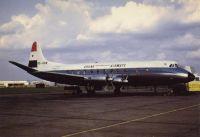 Vickers Viscount 838 de Ghana Airways - Vendu par la compagnie nationale ghanéenne à une compagnie indonésienne puis revendu à une compagnie suédoise, l'appareil s'est écrasé dans un parking à l'approche de Stockholm le 15.01.1977