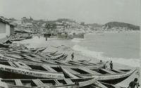Cape Coast beach and town, about 1960