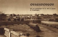 Ouagadougou, vue générale vers 1938.