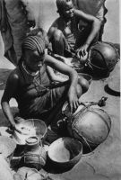 Marchande de lait à Fort-Lamy - Carte postale écrite le 01.08.1947