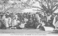 Dakar, un coin du marché indigène