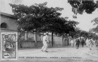 Dakar, boulevard National - postée le 10.5.1911