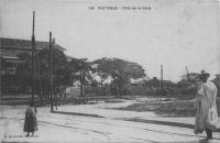 Rufisque, côté de la gare - carte datée du 24.7.1945