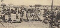 Lomé, Marktplatz eingeborene deutsche -1902 - sujets allemands au marché.