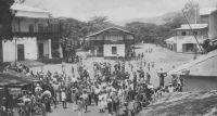 Dalimé, fanfare indigène sur la place du marché - 1926 (Kpalimé).